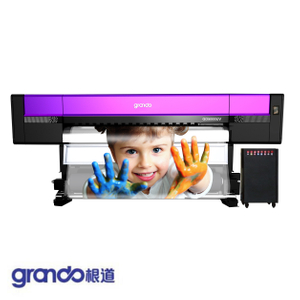 1.8m LED-UV Inkjet printer with five Ricoh Gen5i print Heads